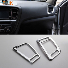 2 pz Chrome Interior Air Vent Copertura Trim Accessori per Kia K5 Optima 2011 2012 2013 2014 2015
