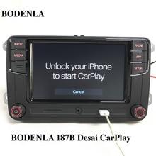 "BODENLA RCD330 Plus RCD330G CarPlay APP Desai 6.5 ""MIB راديو السيارة RCD330G لشركة فولكس فاجن تيجوان جولف 5 6 جيتا MK5 MK6 باسات بولو توران"