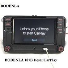 "BODENLA RCD330 Plus RCD330G aplikacja CarPlay Desai 6.5 ""MIB Radio samochodowe RCD330G dla VW Tiguan Golf 5 6 Jetta MK5 MK6 Passat Polo Touran"