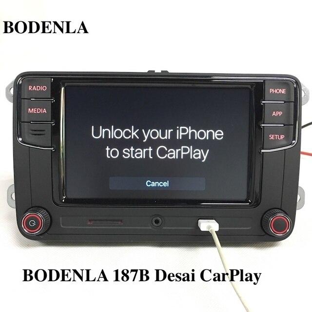 """BODENLA RCD330 בתוספת RCD330G CarPlay APP דסאי 6.5 """"MIB רכב רדיו RCD330G עבור פולקסווגן Tiguan גולף 5 6 ג טה MK5 MK6 פאסאט פולו טוראן"""