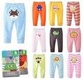 4 unids/lote Bebé Pantalones Pantalones Bebé Niños Busha PP pantalones niños niñas de dibujos animados ropa de niño Otoño del Resorte ropa