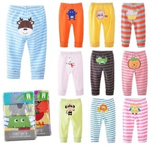 4pcs/lot  Baby Pants Baby Trousers Kids Busha PP pants boys girls cartoon clothing Autumn Spring toddler clothes 0-36M