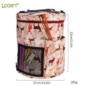 Image 4 - 13 stylowa torba do przechowywania przędzy z mieszanką 22 szt. Zestaw szydełko przyrządy do szycia akcesoria szydełka duży uchwyt worek z przędzy