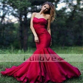 Graceful Burgundy Mermaid Evening Dress Long 2019 Sweetheart Formal Evening Dresses Gown Vestidos De Fiesta Largos Elegantes