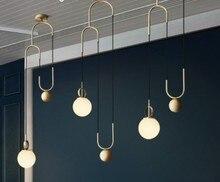 Nordic подвесные светильники Глобус Стекло шар подвесной светильник Блеск подвеска Кухня светильник E27 домашнего освещения