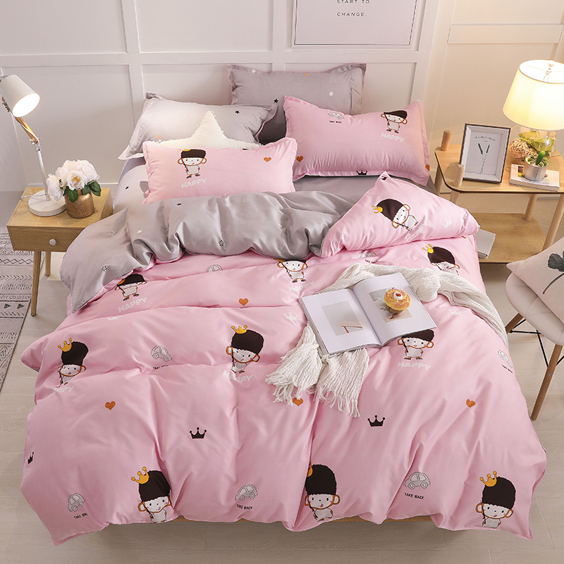 Bedding-Set Christmas-Gifts Pillowcase Duvet-Cover Flat-Sheet Character Cartoon Cute