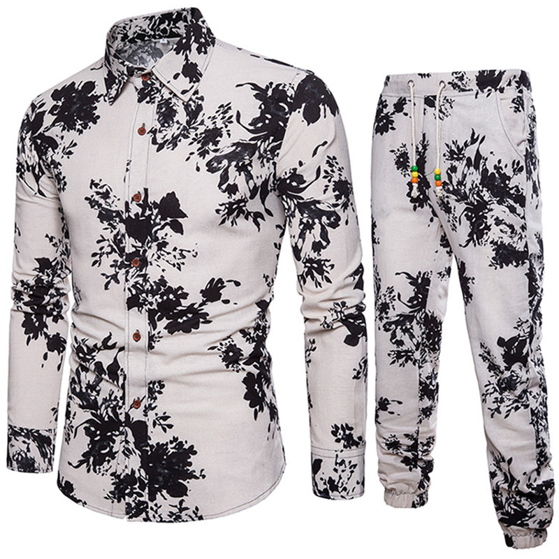 deb60d6f634 2019 Hand Painted Male Long Sleeve Set Gentleman Festival Wear ...