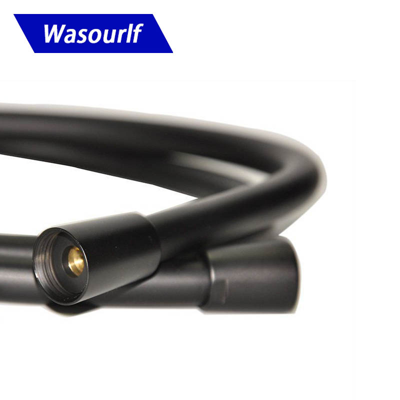 WASOURLF PVC 1 5 metre black shower hose for shower head bathroom Anti twist 150cm water hose bathroom Free shipping in Plumbing Hoses from Home Improvement