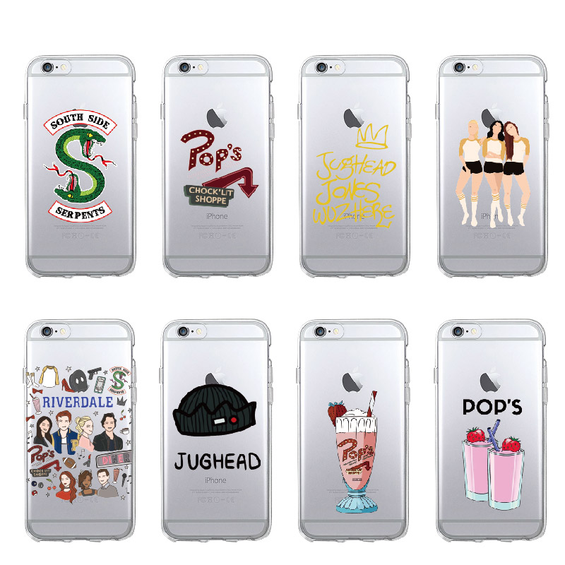<font><b>TV</b></font> Riverdale Jughead <font><b>Jones</b></font> Southside Serpents Weiche TPU Telefon Fall Abdeckung Für iPhone 11 Pro 7 7Plus 6 6S 8 8Plus X XS Max image