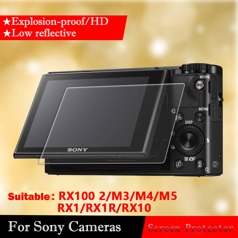 Tempered Glass Screen Protector For Sony RX100 M5 M4 M3 M2 RX1 RX1R RX10 Camera Film Tempered Film HD Protective Film tempered glass original for alldocube m5 glass screen protector film slim transparent