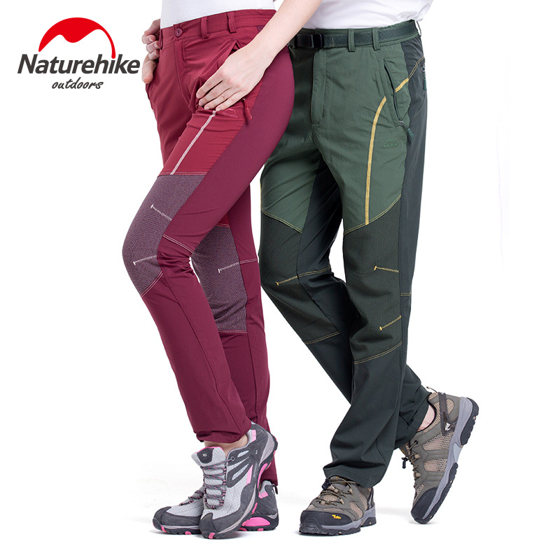 цена на Brand Naturehike Outdoor mountaineering sports pants color matching quick-drying pants for men and women fall lovers sport pants