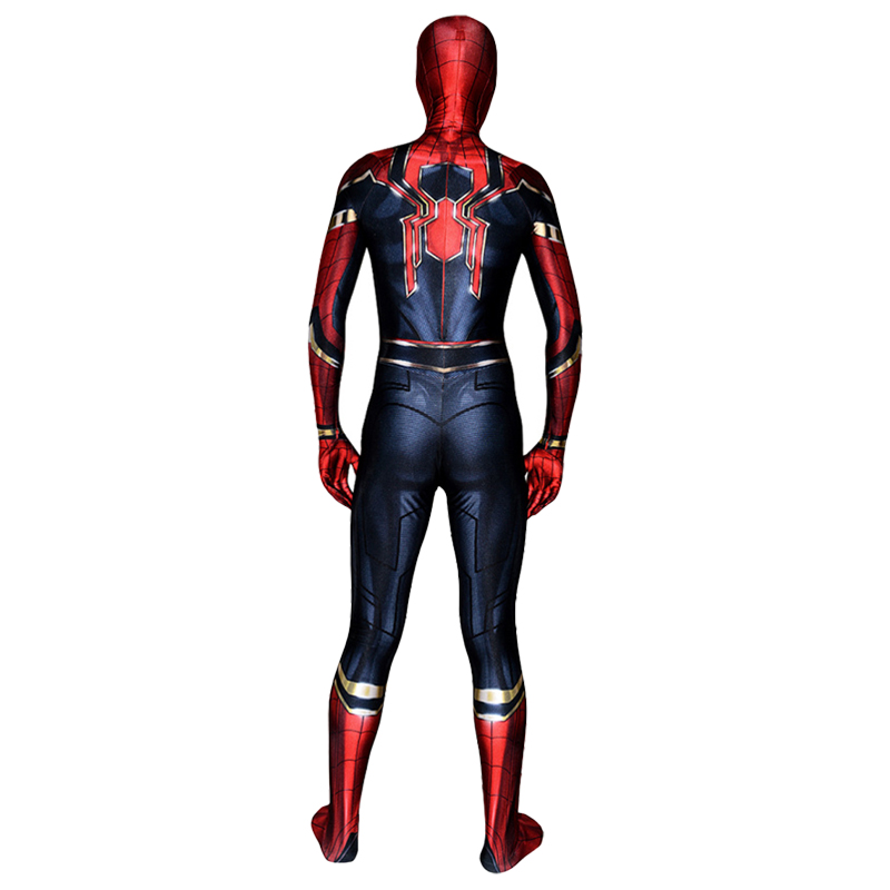 Высокое качество Человек-паук выпускников костюм Косплэй взрослого супергероя Железный Человек-паук Косплэй костюм наряд на Хэллоуин карн...