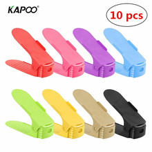 10pcs/Lot Double Shoe Slot, Adjustable Shoe Rack, Smart Shoe Organizer Holders Save More Space Top Quality Multi-Color Optional