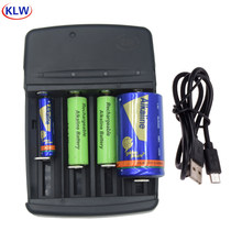 smart LED Display Battery Charger with AC plug for A LR6 AA LR03 AAA AAAA LR14 C LR20 D Alkaline 1.5V Rechargeable Battery(China)