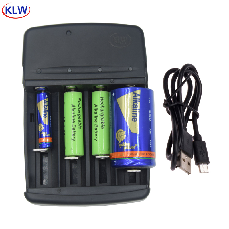 smart LED Display Battery Charger with AC plug for A LR6 AA LR03 AAA AAAA LR14 C LR20 D SC N Alkaline 1.5V Rechargeable Battery
