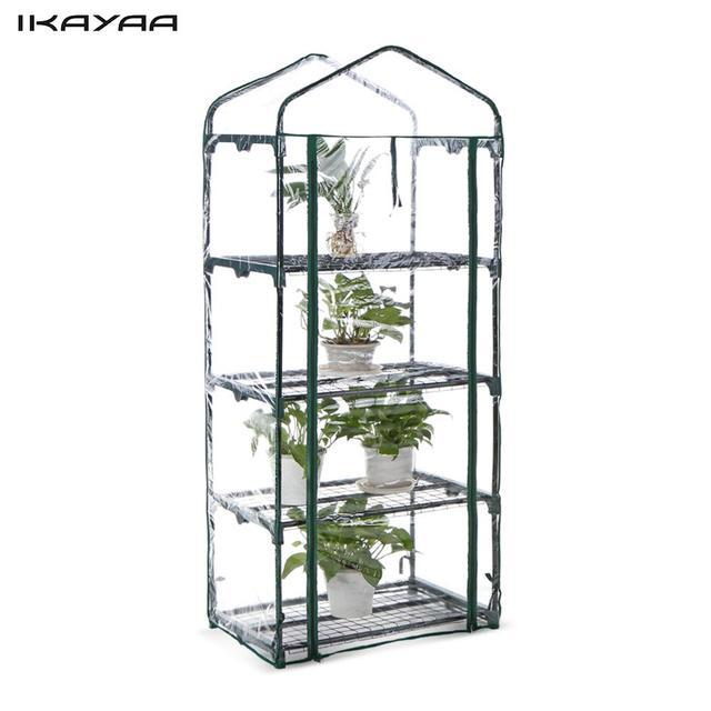 IKayaa Serre En Plein Air Jardin 4 Tier Mini Vert Maison Growbag W ...