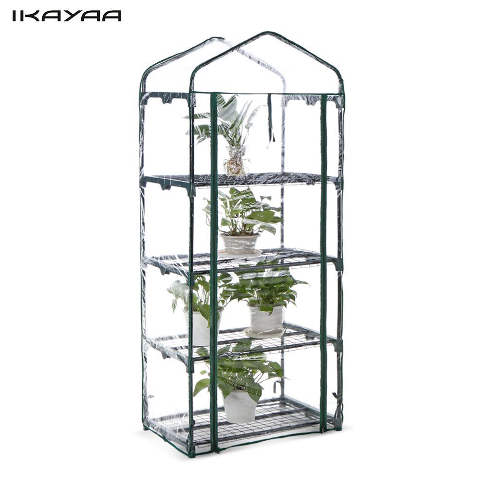 Ikayaa serre en plein air jardin 4 tier mini vert maison growbag wétagères cadre