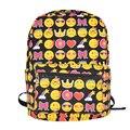 2017 Nuevo diseño niños emoji emoji estilo de impresión de la moda del bolso de escuela adolescentes caras mochila kids schoolbag