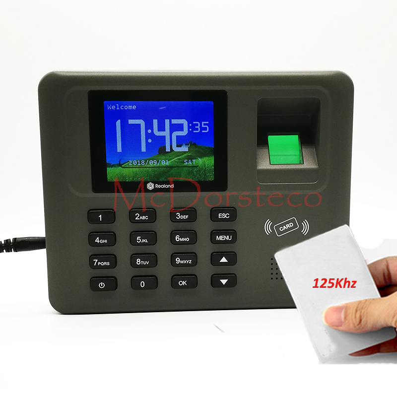 Tcp/ip Fingerprint & Rfid Card Attendance System Employee Fingerprint Time Attendance Management System Time Recording