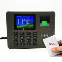Tcp/ip fingerprint & rfid cartão sistema de comparecimento da impressão digital empregado tempo comparecimento sistema gestão tempo gravação