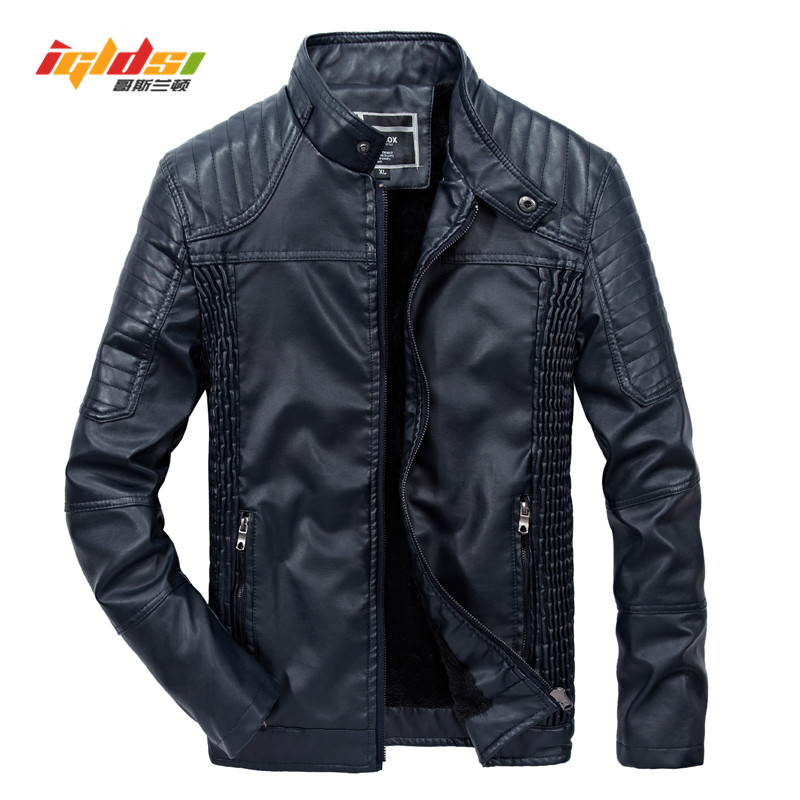 2018 New Men Winter PU Leather Jacket Fashion High Quality Casual Biker Motorcycle Jacket Male Outerwear Coats Plus Size 3XL