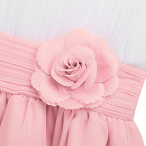 Image 4 - Flower Girls Chiffon Dresses 2020 Sleeveless Tulle Ball Gown Pageant Dresses For Girls First Communion Party Summer Tutu Dresses