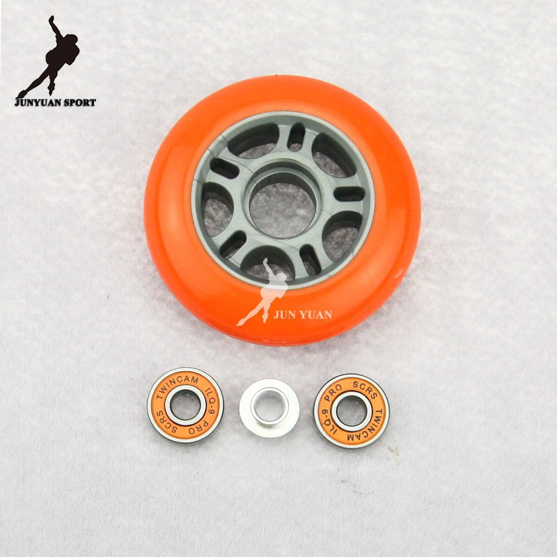 Hot! PU Skates Wheel,Skate Board Slalom Braking Roller Skating Shoes Wheel Set,72 76 80mm 85A Free Shipping Chirstmas Gift