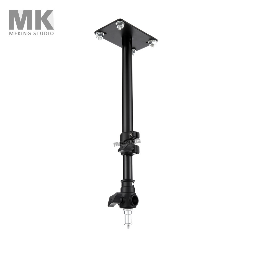 Meking Photo Studio Light Stand L-600D Ceiling Overhead Support System 55cm/21.6in 2Sections Lighting Holder Steadycam Steadicam