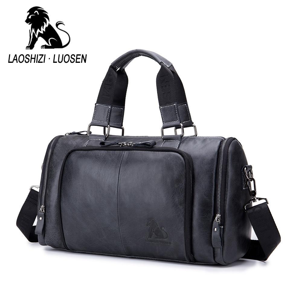 Genuine Leather Handbag Casual Bag Mens Multi-purpose Travel Bag Cow Leather Large Capacity Big Duffel Luggage Weekend BagGenuine Leather Handbag Casual Bag Mens Multi-purpose Travel Bag Cow Leather Large Capacity Big Duffel Luggage Weekend Bag