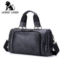 Genuine Leather Handbag Casual Bag Men's Multi-purpose Travel Bag Cow Leather Large Capacity Big Duffel Luggage Weekend Bag(China)