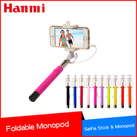 Hot New Arrival Wired Mobile Phone Monopod Tripod Selfie Stick For iPhone Selfie Remote For Samsung