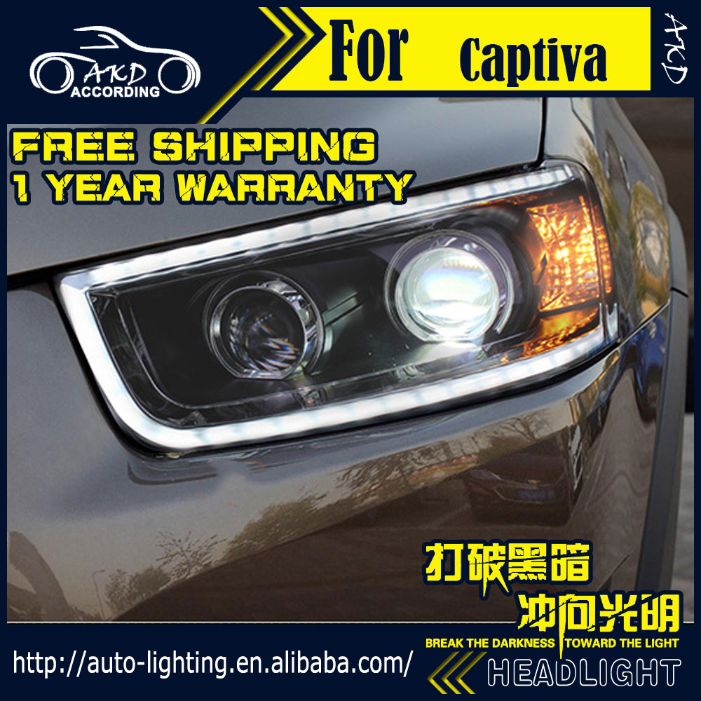AKD Car Styling Head Lamp for Chevrolet Captiva Headlights Captiva LED Headlight DRL H7 D2H Hid Option Angel Eye Bi Xenon Beam car styling head lamp case for hyundai creta ix25 headlight 2015 2016 sentra led headlight drl h7 d2h hid option bi xenon beam