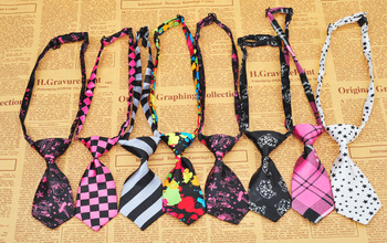 50pcs/lot  Pet Dog Neckties Bow  tie Mixed 30 New Patterns Polyester Cute Dog Bow Tie Dog Grooming Products 3