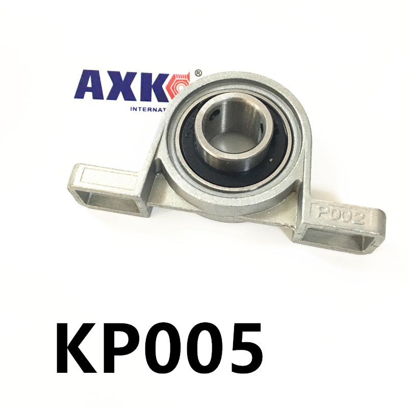 Free shipping 2pcs KP005 pillow block ball bearing 25mm Zinc Alloy Miniature Bearings free shipping 10pcs mr62zz mr63zz mr74zz mr84zz mr104zz mr85zz mr95zz mr105zz mr115zz mr83zz miniature bearing
