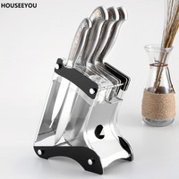 Acrylic Multifunctional Knife Holder Light Weight Block for Kitchen Knives Rack Shelf Kitchen Storage Organization Accessories