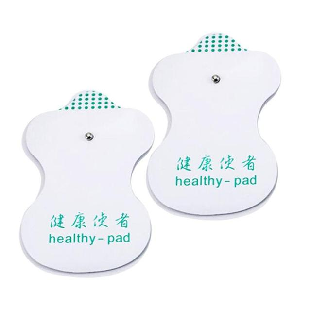 10pcs White Electrode Pads Digital Meridian instrument Acupuncture Therapy Machine Relaxation Connector for Slimming Massager C3 1