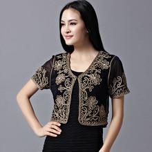 Summer New Women Europe Plus Size Shawl Blouse Sunscreen Cardigan Short Thin Lace Jacket