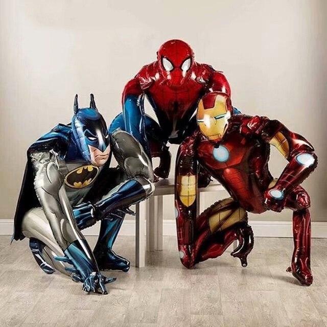 كبير ثلاثية الأبعاد العملاق سبايدرمان الرجل الحديدي باتمان احباط بالونات المنتقمون حفلة عيد ميلاد زينة الاطفال بطل لوازم الهدايا الهواء اللعب بالون