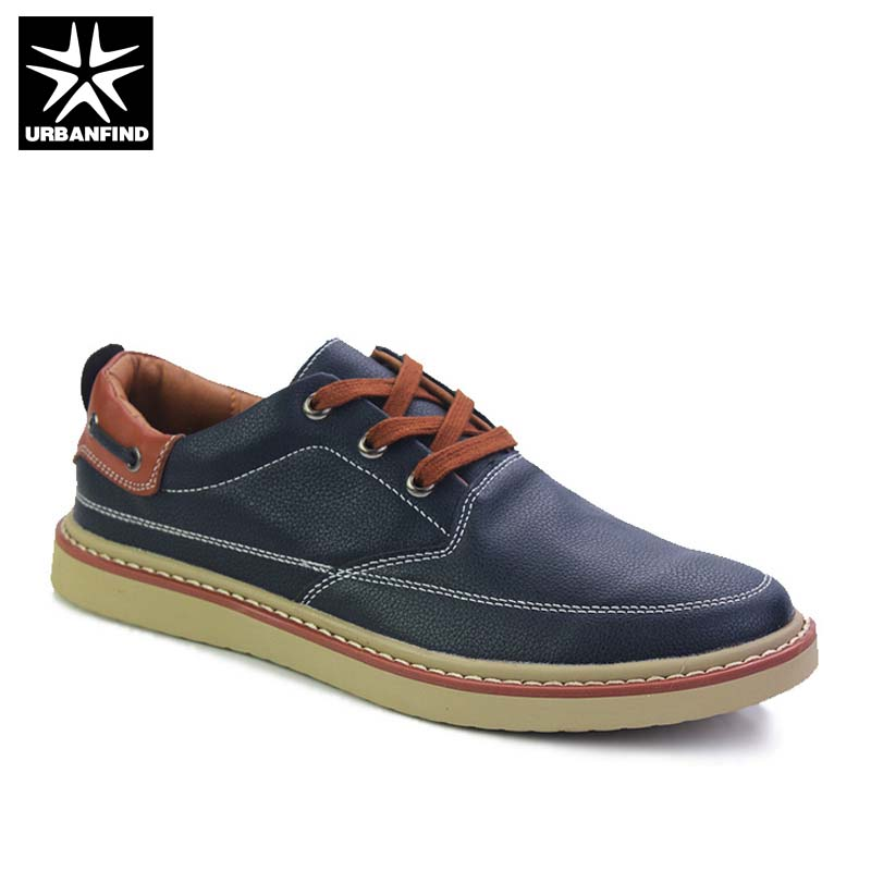 2018 New Men PU Leather Sneakers Casual Shoes Size 38-44 Breathable Summer Male Lace-up Flat Shoes Black Brown Blue Colors men s leather shoes new arrival lace up breathable vintage style casual shoes for male footwears zapatos size 38 44 8151m