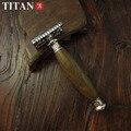 Бритва деревянной ручкой лезвийный титан бритвы