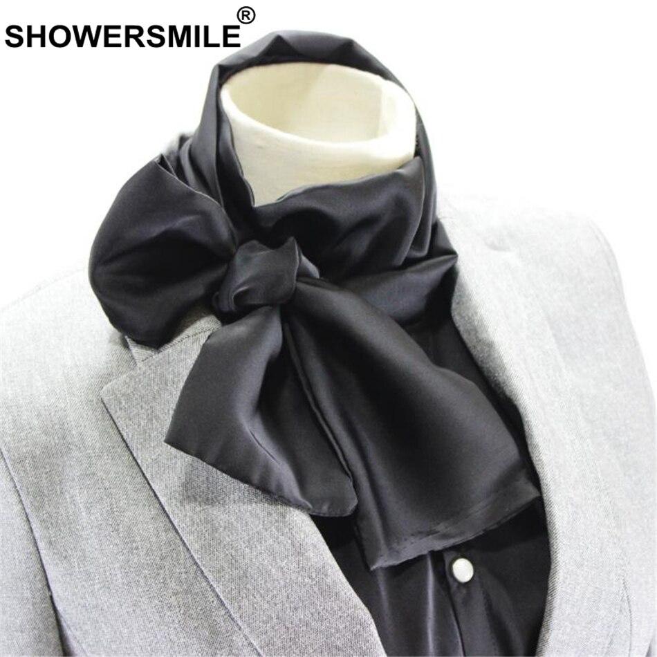 SHOWERSMILE Fake Collar Women Big Bow Detachable Collar Black Fashion 2020 New Arrival Brand Ladies False Shirt Collars