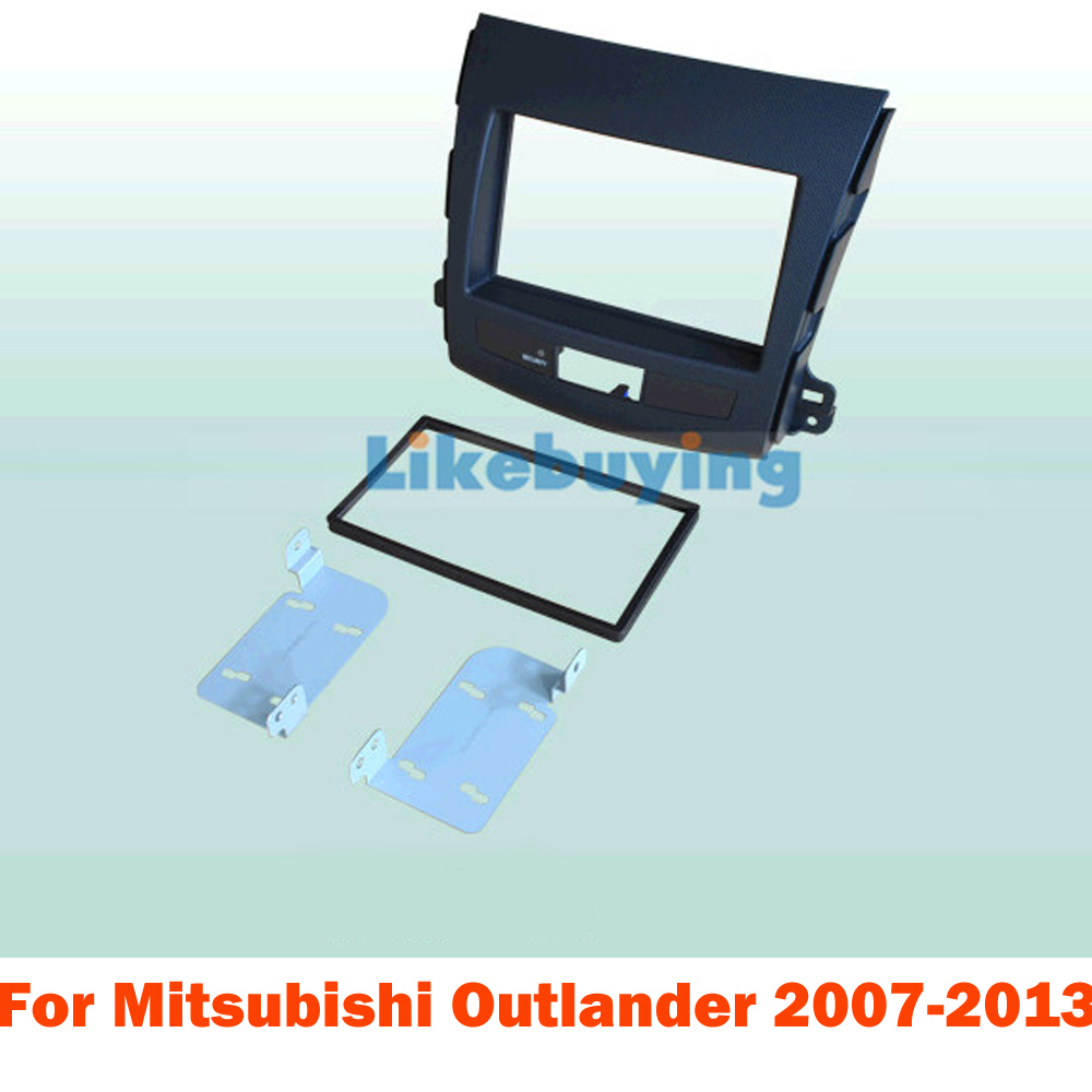 2 Din Car Frame Dash Kit / Car Fascias for  Mitsubishi Outlander 2007 2008 2009 2010 2011 2012 2013 car rear trunk security shield shade cargo cover for nissan qashqai 2008 2009 2010 2011 2012 2013 black beige