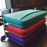 A6 UK Style Multi Function Zip Leather Spiral Filofax Notebook Portable Agenda Planner Organizer Personal Diary