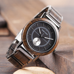 BOBO BIRD Lover's Watches Luxury Wooden Watch Couple Stylish and Quality Wristwatch Special Color Combination Design K-R12