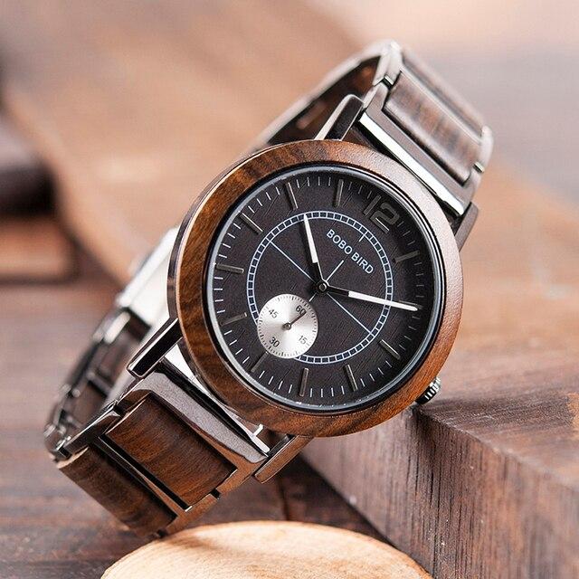 Bobo Vogel Lover 'S Horloges Luxe Houten Horloge Paar Stijlvolle En Kwaliteit Horloge Speciale Kleur Combinatie Ontwerp K R12-in Geliefdes Horloges van Horloges op