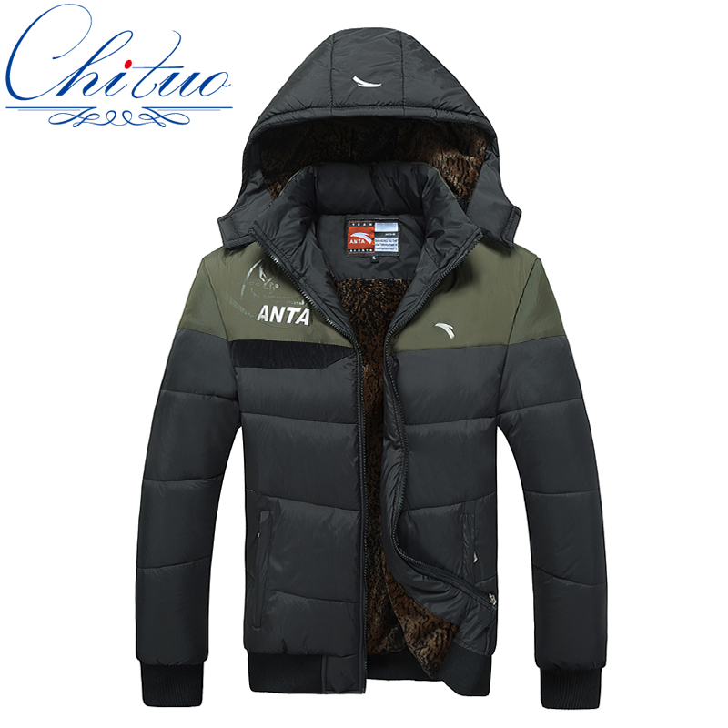 The new men s well known designer men s casual hooded jacket warm coat jacket male