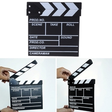 OOTDTY 20x20cm Photo Studio Kits Film Director's Clapper Board HOLLYWOOD Movie Scene Clapboard Photography Props Dropshipping