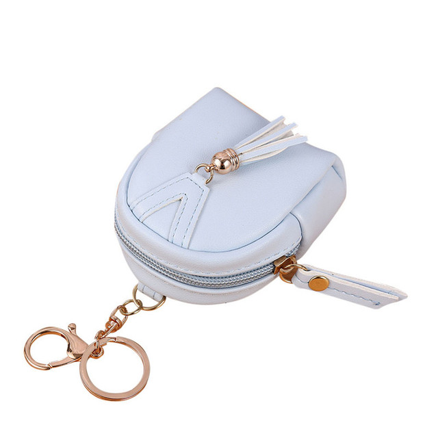 Key Holder Women Fashion Simple Key Bag Wallet Tassel Coin Purse Card  Holders Handbag women s purse A7 3b6de452f9