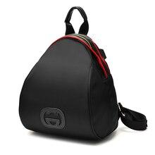 Промытые черные PU кожаные рюкзаки старинные мягкие кожаные женские сумки Заклепки дизайн сумки на ремне, Модные женские сумки