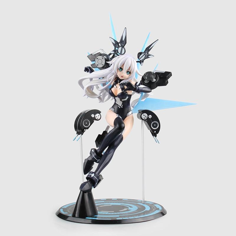 цена на Hyperdimension Neptunia 35cm Black Heart Noire Neptune Japanese Anime Toys Action & Toy Figures Pvc Model Collection